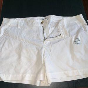 White shorts 3in. Inseam